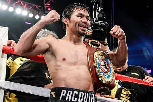Pacquiao shows off his belt