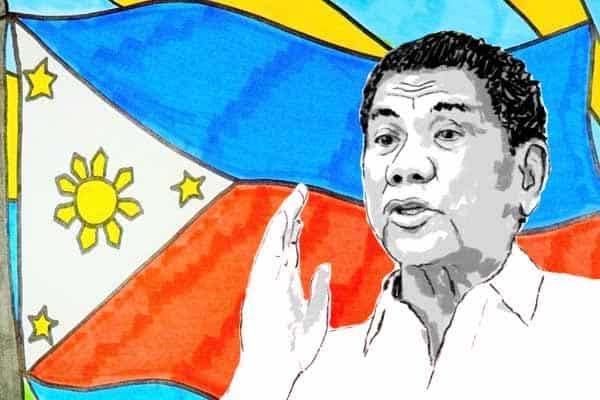 Duterte speaks to the Philippine people.