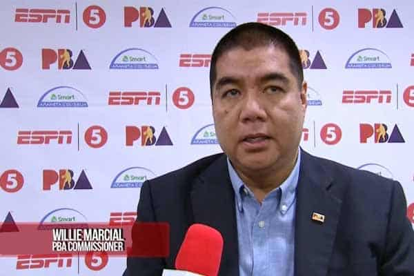 PBA commissioner talks to the press