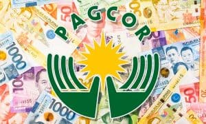 Pagcor money background