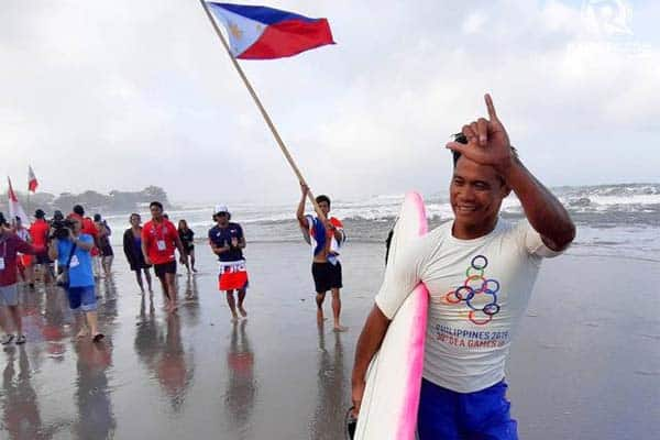 Roger Casugay Philippine surfer