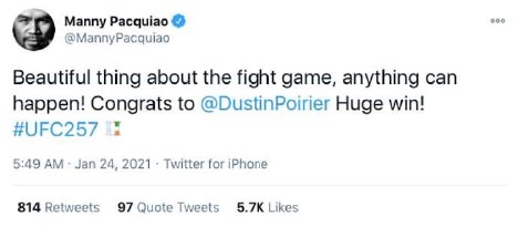 Pacquiao Tweet