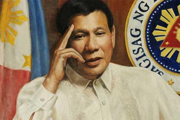 President Duterte retires